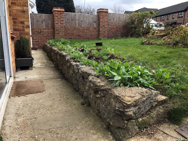 Lancashire Brick Wall - Before