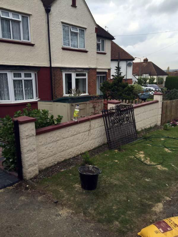 Lancashire Brickwalls - Before