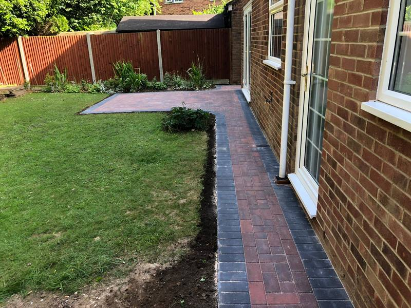 Block Paving Patio After