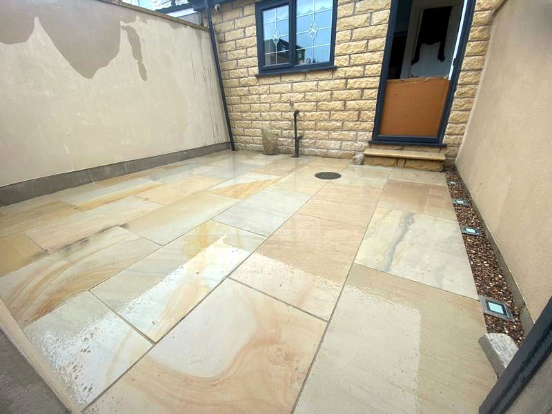 Small Porcelain Patio Area in Burnley