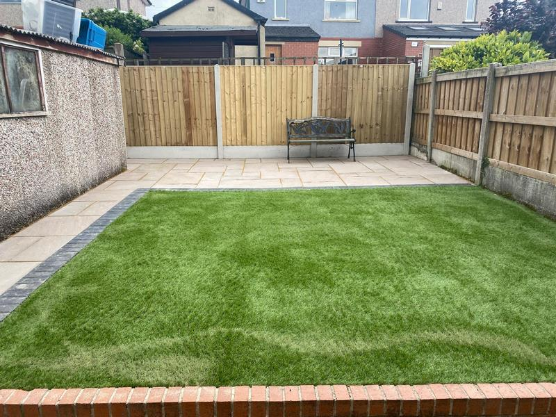 Relaid Block Paving, Artificial Grass and Patio
