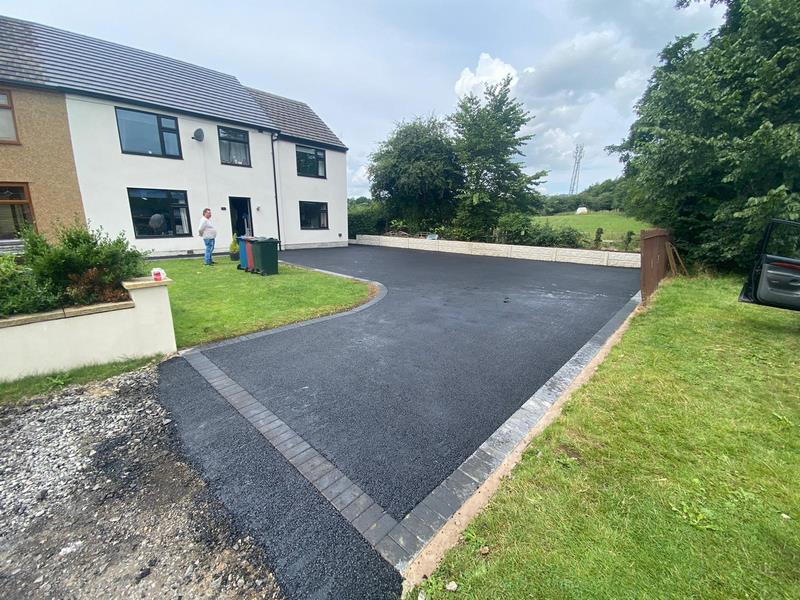 Tarmac Front Driveway in Clitheroe, Lancashire